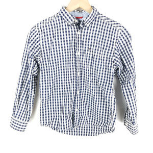 Tommy Hilfiger Blue White Button up Sz S 8/10